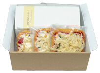 豆乳ロールケーキ&ジューシーあげピザ