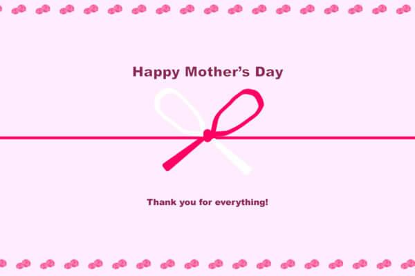 母の日のし ピンク